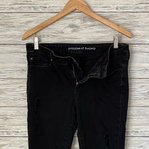 Black Distressed AOS Jeans